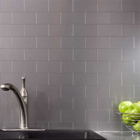metal backsplash tiles for kitchens 32 pcs peel and stick kitchen backsplash adhesive metal