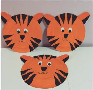 tiger paper plate craft paper plate animals craft idea for crafts and