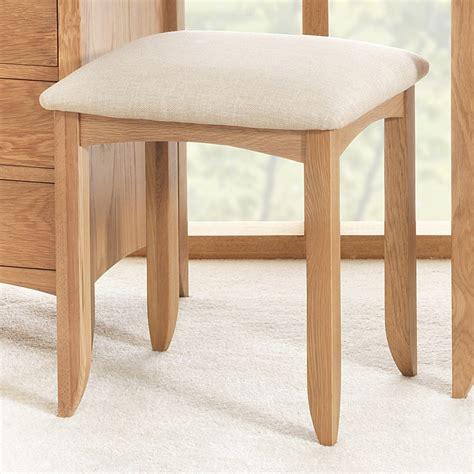 Edward Hopper oak dressing table stool   Bedroom Furniture Direct