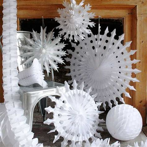 paper snowflake decorations paper snowflakes and garlands charming handmade