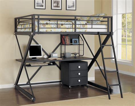 metal frame loft beds cool size loft bed with desk designs ideas decofurnish
