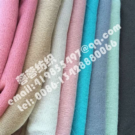 High Quality Woollen Stretch Knit Fabric Thin And Soft