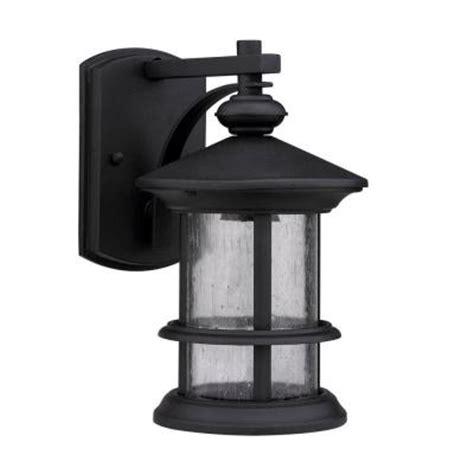 home depot outdoor wall lighting lighting transitional 1 light outdoor black wall