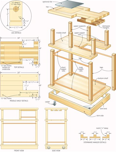 woodworking plans rolling bar woodworking plans woodshop plans