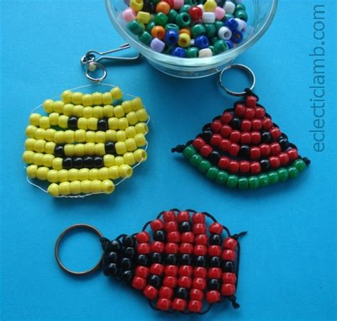 bead craft ideas 3 easy pony bead projects eclectic