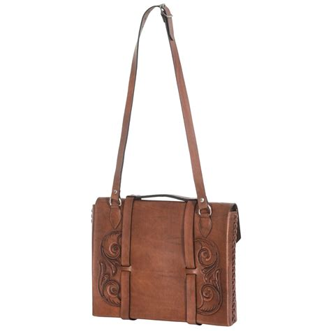 tooled leather goods will leather goods tooled leather briefcase 9484g