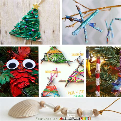 nature ornaments for tree 10 ornament nature crafts to make with
