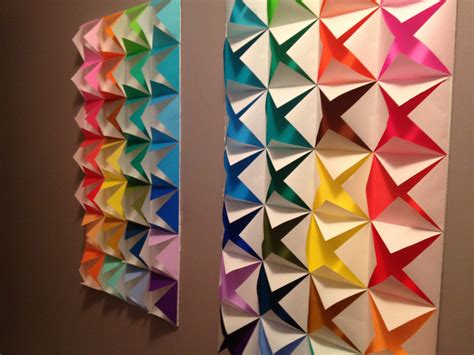 origami wall colorful origami wall color craze