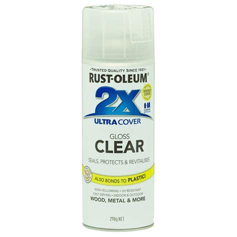 spray painter bunnings rust oleum 298g gloss clear 2x ultra cover spray paint