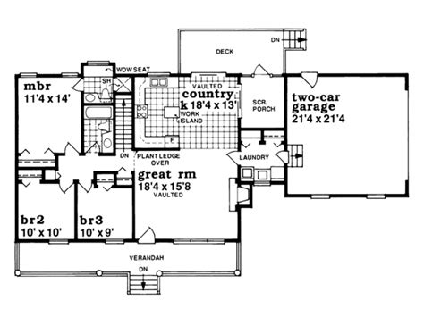 1 story country house plans eplans farmhouse house plan one story country style