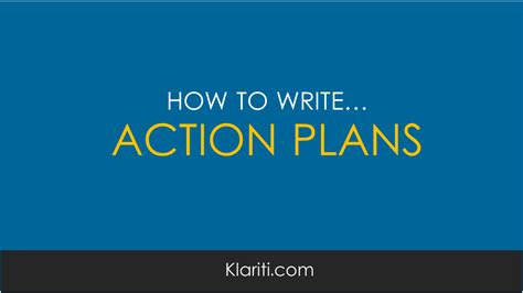 how to structure an action plan for your business