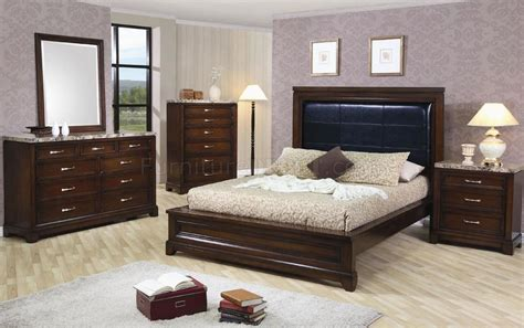 top bedroom furniture oak finish contemporary 5pc bedroom set w marble tops
