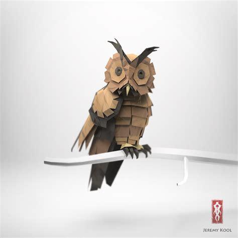 3d origami owl 3d origami illustrations of animals motley news