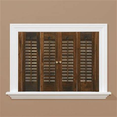 window shutters interior home depot homebasics traditional real wood walnut interior shutter price varies by size qstd2728 the