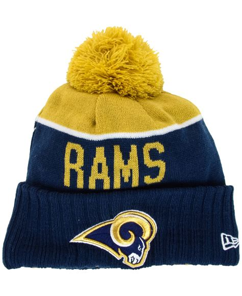 rams knit hat new era st louis rams sport knit hat in gold for