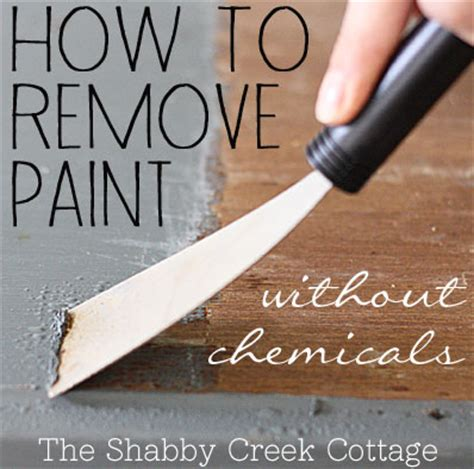 how to remove paint from woodwork remove paint from furniture without chemicals step by
