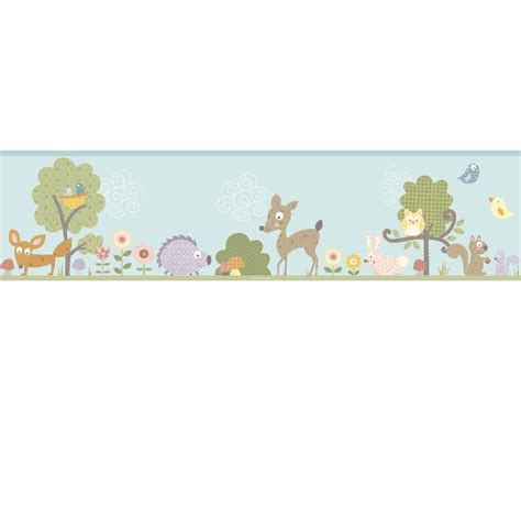 Wall Border Stickers woodland animals wall sticker border stickers for wall com