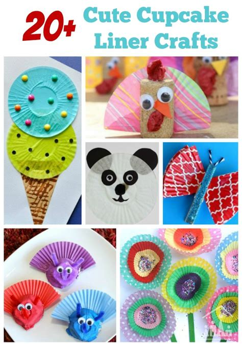 cupcake crafts for cutest cupcake liner crafts crafty at home