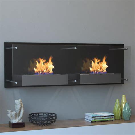 wall mounted ethanol fireplace moda faro 47 in wall mounted ethanol fireplace in