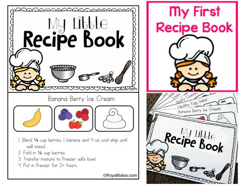 easy picture books my recipe book printable for charity royal baloo