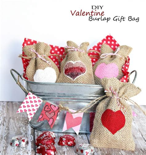 easy craft gifts for burlap gift bag easy kid
