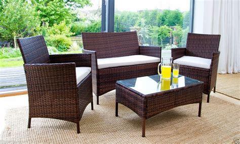 rattan patio furniture rattan garden furniture set 4 chairs sofa table