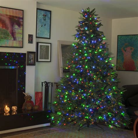 dual color tree light up your home this with dual color pre lit