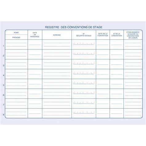 registre des conventions de stage suivi des stagiaires elve 1471 ask s 233 curit 233