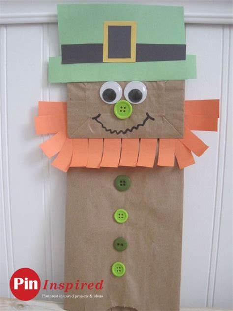 leprechaun paper craft paper bag leprechaun craft for so and easy to