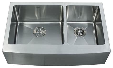 modern stainless steel kitchen sinks kraus khf203 33 33 inch farmhouse 70 30 16