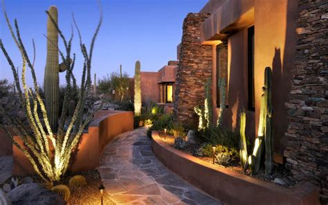southwest outdoor lighting how you can use outdoor lighting to highlight your landscape