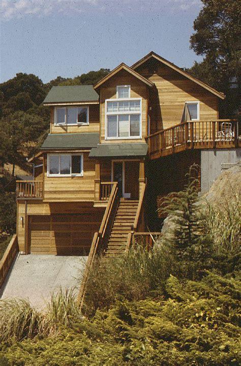 steep hillside home plans house design plans