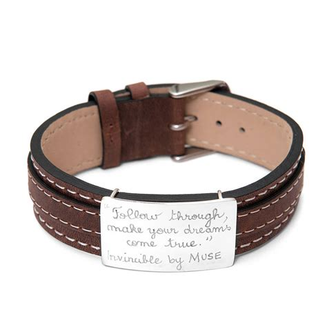 leather for jewelry personalised sterling silver and leather bracelet by merci