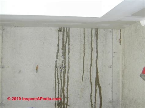 water leak in basement wall basement diagnosis cure how to inspect for basement