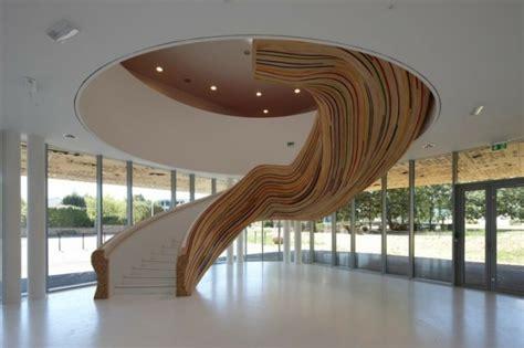 organic interior design organic stair design makes futuristic indoor fresh