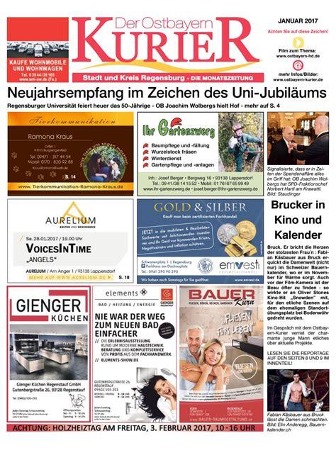 Der Gartenzwerg Lappersdorf by Sued Ostbayern Kurier Januar 2017 By Medienverlag Hubert