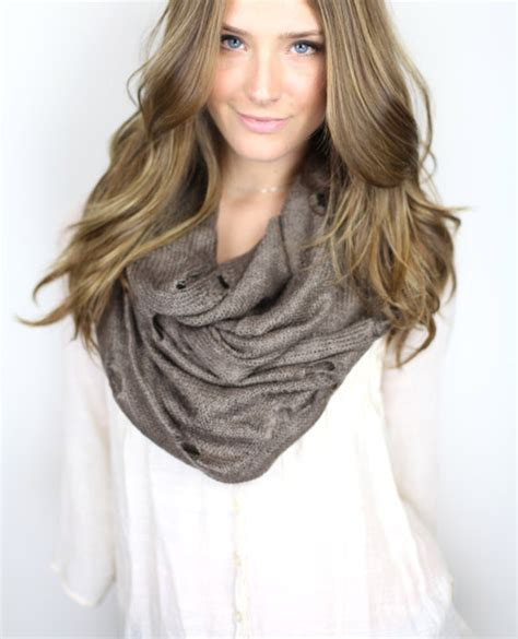 infinity scarf brown chunky infinity scarf vintage from gertiebaxter on etsy