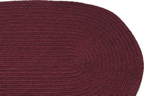 burgundy rug solid burgundy braided rug