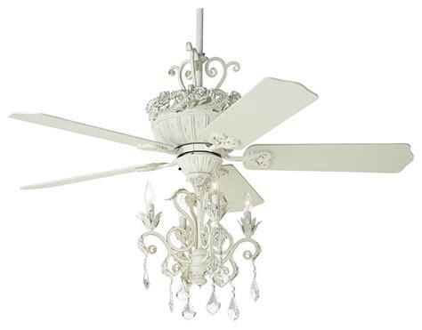 ceiling fans with chandelier light 52 quot casa chic antique white chandelier ceiling fan