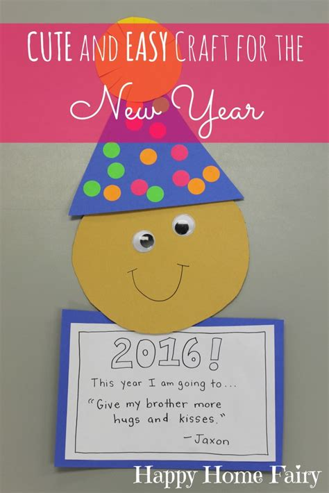 new year crafts for easy new year s craft for preschoolers happy home