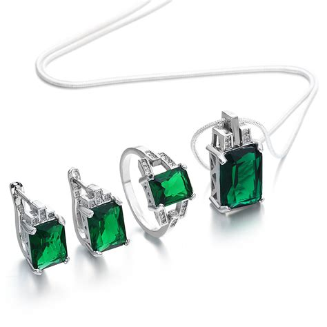 best for jewelry 2017 stylish jewelry set for engagement green zircon