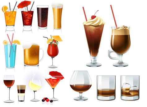 Cocktail drinks vector   Vector Graphics Blog