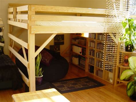 loft bed frame for adults king loft bed by mc woodworks