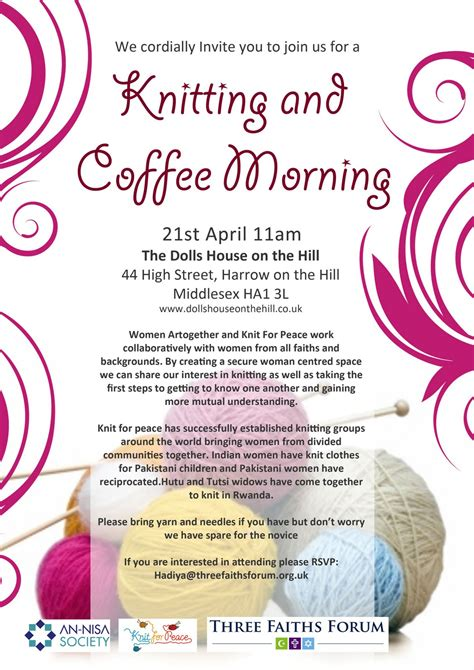 knitting words see you soon at harrow on the hill for charity knitting