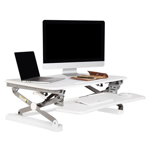 keyboard riser standing desk flexispot 35 in w platform height adjustable standing