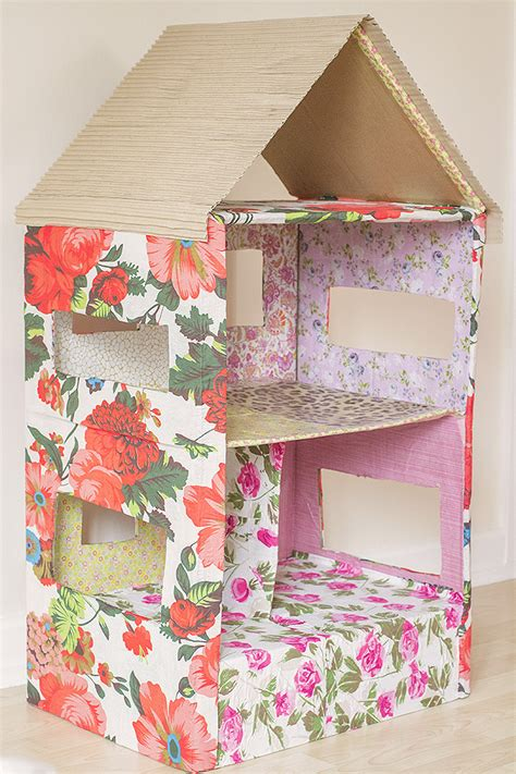 how to make a card board box how to make a dolls house out of a cardboard box