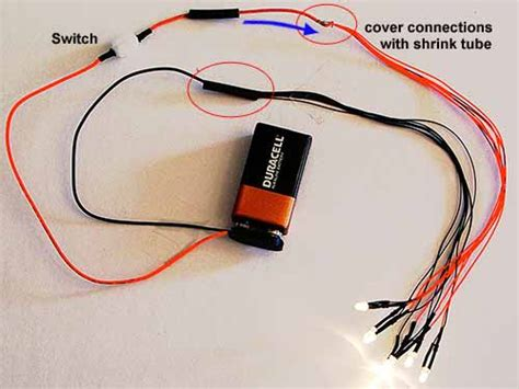 how to power lights with a battery battery with switch wire switch more