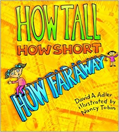 measurement picture books how how how far away david a adler nancy