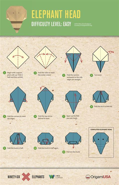 Easy Origami Elephant   Highlights for Children