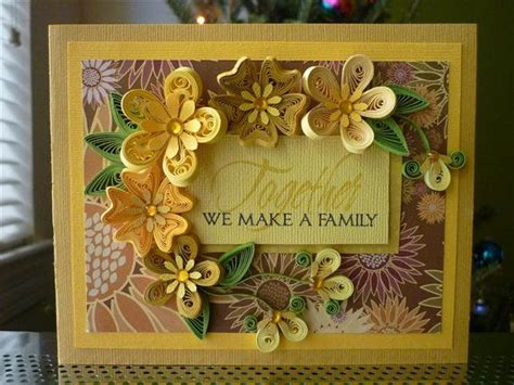how can we make a greeting card handmade paper quilling yellow greeting card quot together we